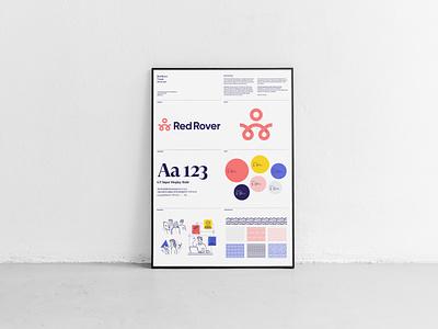 Red Rover Brand Visual Overview mockup logos typography logotype brand vector illustration design logo icon branding