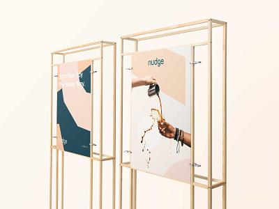 Nudge - Branding Concept packagedesign packaging ui typography logotype brand vector illustration design logo icon branding