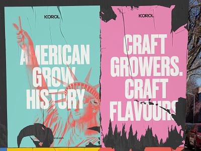 Korol - Branding Concept cannabis design cannabis branding cannabis logo cannabis logos logodesign mockup typography vector brand illustration design icon branding