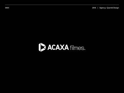 Acaxa Filmes Logo movies logos ui typography logotype brand vector illustration logo design icon branding