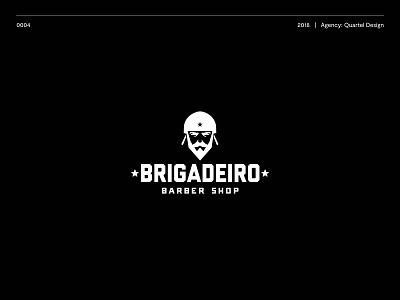 Brigadeiro barber ui typography logotype brand illustration logo vector design icon branding