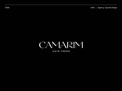 Camarim Hair Trend barber logodesign typography logotype illustration brand vector logo design icon branding