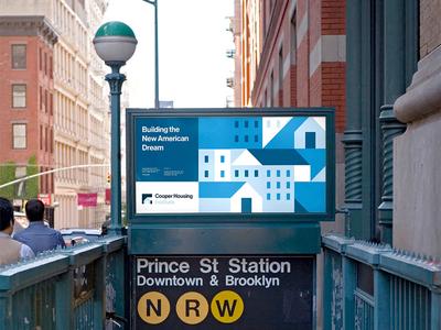 Cooper Housing Billboard adobe illustrator mock-up billboard mockup billboard design advertising mockup illustration