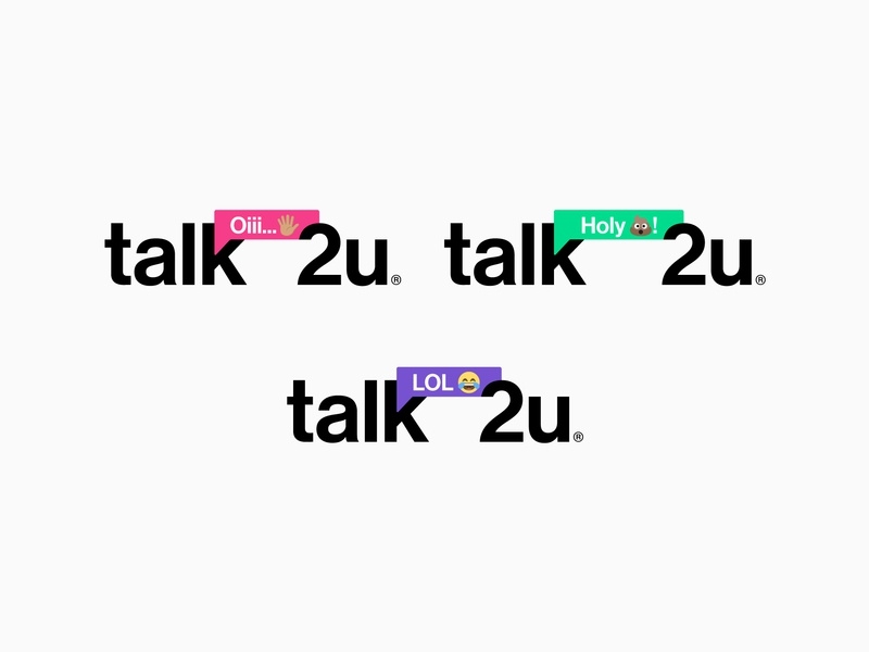 Talk2u Alternative Concept 2 emoticon emojis instagram stories chat-bot chatbot ui icon branding typography vector logotypedesign logodesign isologotipo logotipo logotype logos