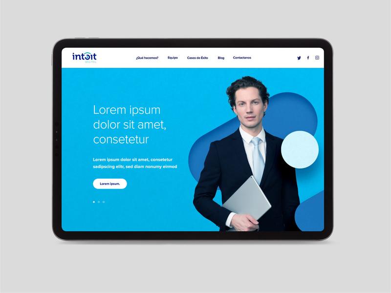 Intoit Proposal mockup typography logo design brand identity brand branding posters