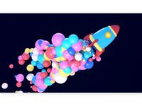 3D Rocket Launch