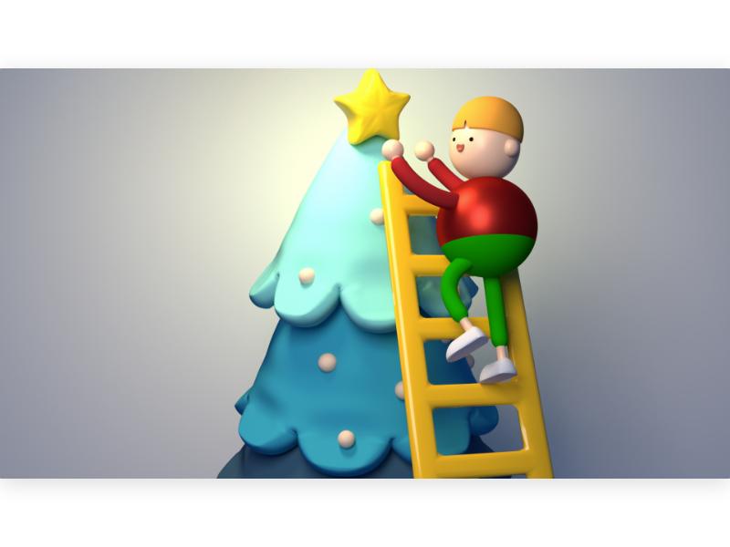 star decoration greeting seasonal clay figurine miniature toy holiday character children kid cartoon cute 3d