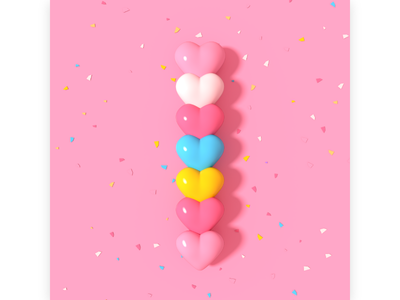 heart shaped candy