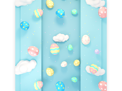 Kawaii Easter eggs