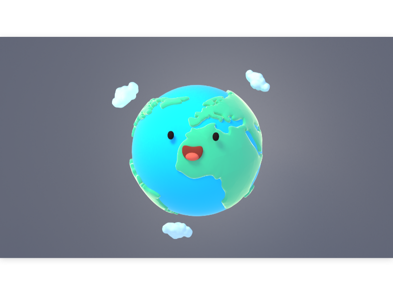 Cartoon Earth 可愛 地球 happy baby geography world planet kawaii eco earth april 22 kid children cartoon cute design 3d