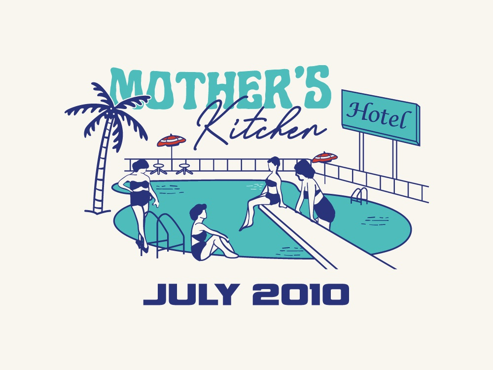 Mother's Kitchen vintage art vintage design vector illustration