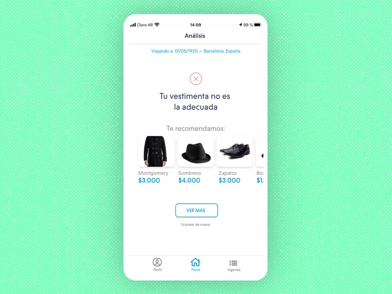 Time travel App Concept UI