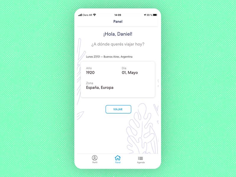Time travel App Concept UI - Home
