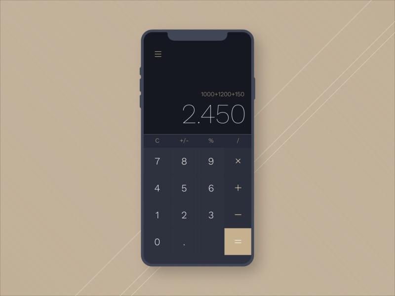 Daily UI Challenge | 004 | Calculator daily ui dailyuichallenge concept uidesign ux uiux ui design app dailyui 004 dailyui
