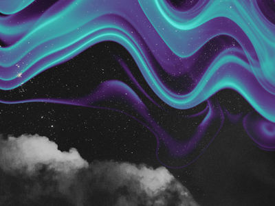 abstract.007 art stars sky clouds waves blue night galaxy abstract wallpaper