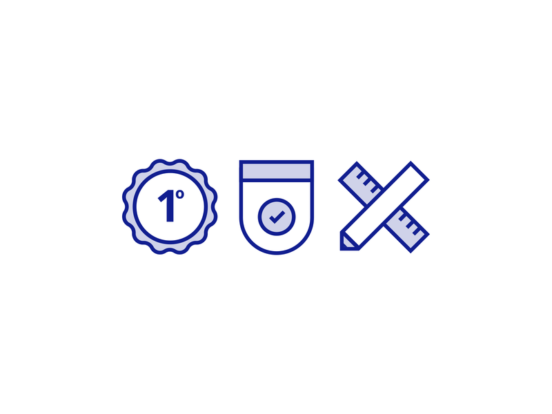 Icons tick first badge icons icon design