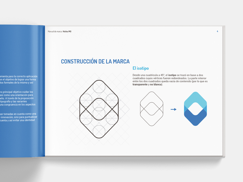 Brand Guidelines book making of isotipo ice brand editorial design editorial grid logo design branding