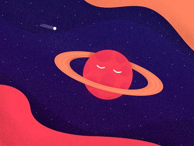 Planet illustration sleeping stars universe photoshop illustrator illustratio planet