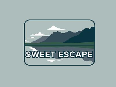 Sweet Escape escape trees pnw mountain illistration vector flat badge