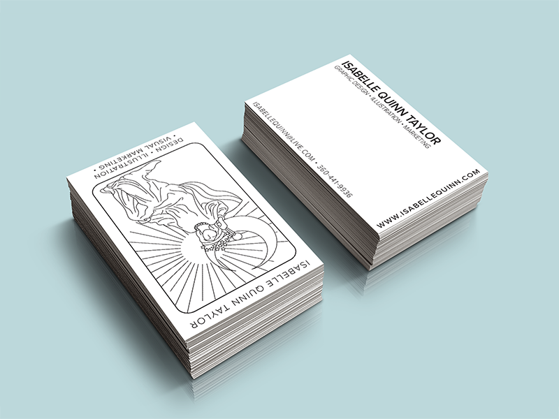 Tarot Business Card by Isabelle Quinn Taylor - Dribbble