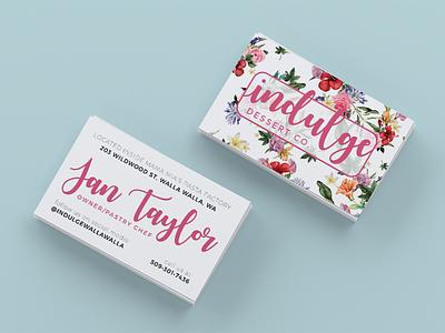 Business Card Design walla walla bakery dessert branding stationary graphic design design freelance marketing business cards