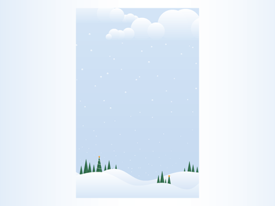Semi-Flat Holiday Background color transition gradient festive christmas holiday snow design flat vector illustration