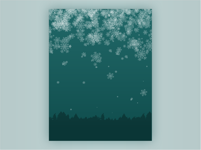 Stopping By Woods Background background design trees woods teal background snow flat vector illustration