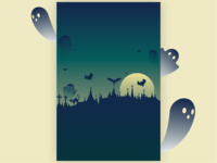 Grim Grinning Ghosts Halloween background