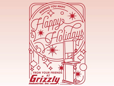 Grizzly Industrial Christmas Catalog Cover Design selfie font happy holidays christmas vector illustration flat