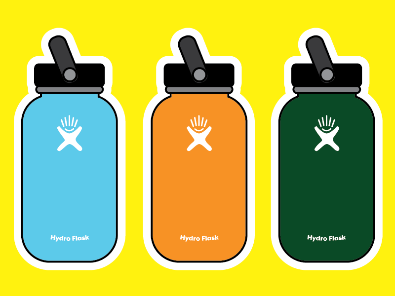 It's just a picture of Astounding Hydro Flask Stickers Printable