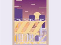 Osaka Station Illustration