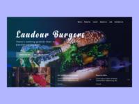 Burger restaurant - Landing page