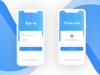 Daily UI  #1 | Sign Up Screen.