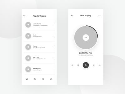 Music Application Design Wireframes - Day 2/100 design web app iphone application design android design ios design mobile application mobile app design mobile ui ux design ui design app design ux ui