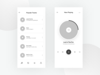 Music Application Design Wireframes - Day 2/100