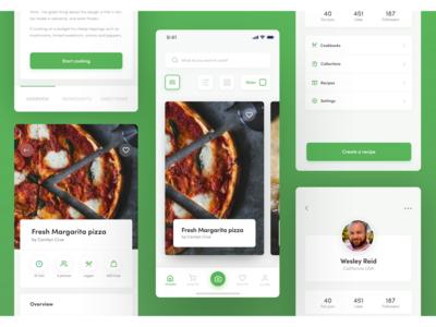 Recipe iOS Application Design 3 colors ux design recipe app web ui design product design ios app design iphone x mobile ios ux ui design app