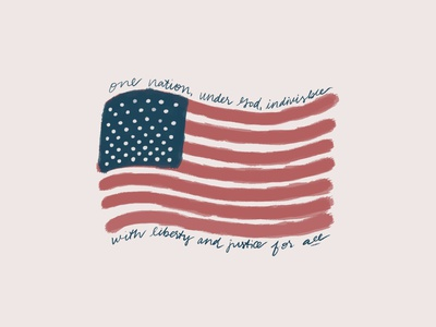 Fourth of July fourth of july independence day july 4th procreate handlettering design illustration graphic  design