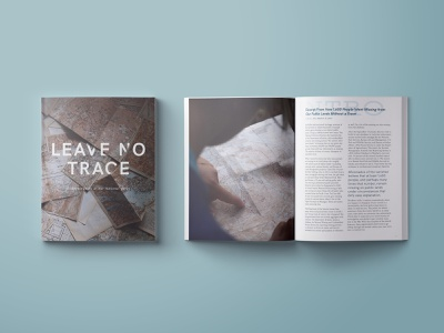 leave no trace book student project book typography design type layout print graphic  design typography layout design print design