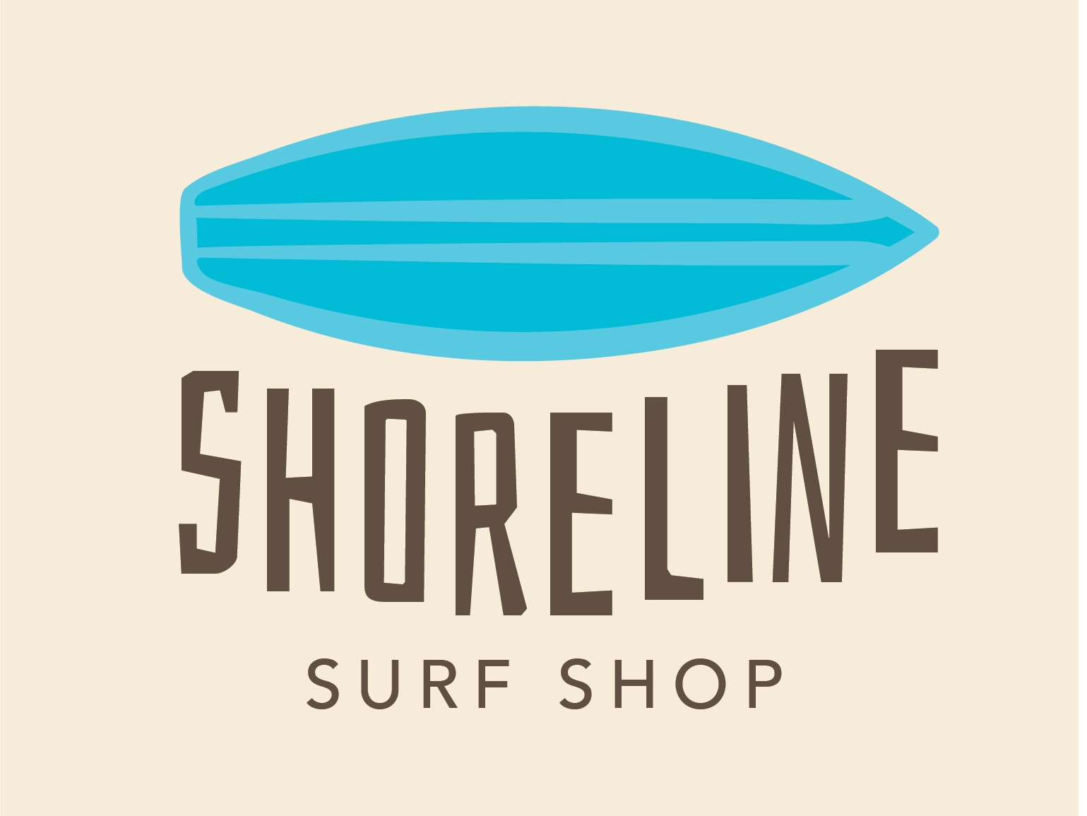 shoreline surf shop vector visual branding visual identity branding graphic  design student project typography logo illustration