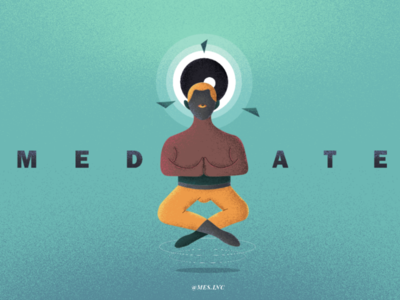Meditation anxiety mental yoga vector joy illustration calm relax meditation meditate