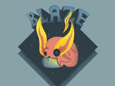 Blazing skull 🔥 flames mummy mask flat illustration illustrator dark grain fire blaze skull