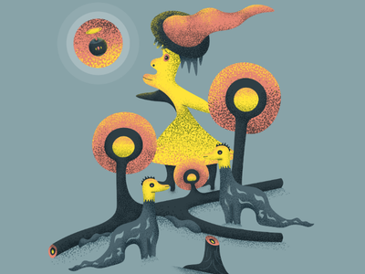 Midnight Gospel Inspired texture grain trippy art character midnight gospel vector illustration artwork psychedelic art psychedelic