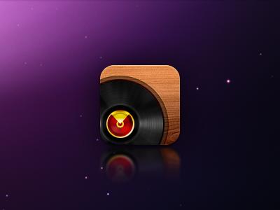 Vinyl Record iphone icon wood record vinyl icon iphone