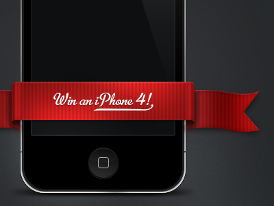 iPhone 4 Giveaway win red ribbon black iphone iphone 4