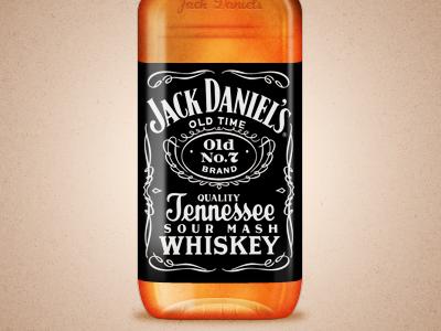 Jack Daniel's whiskey orange brown label jack daniels