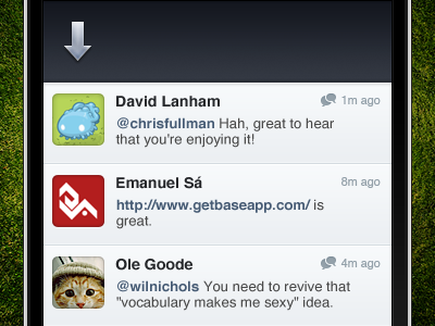 Pull to Refresh iphone app twitter refresh blue white green icons