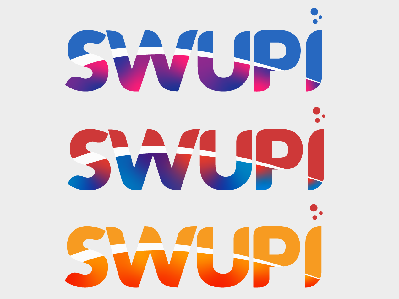 Swupi Logo Design Colors vector web branding simple minimalistic typography icon modern gradients lettering custom type design logo