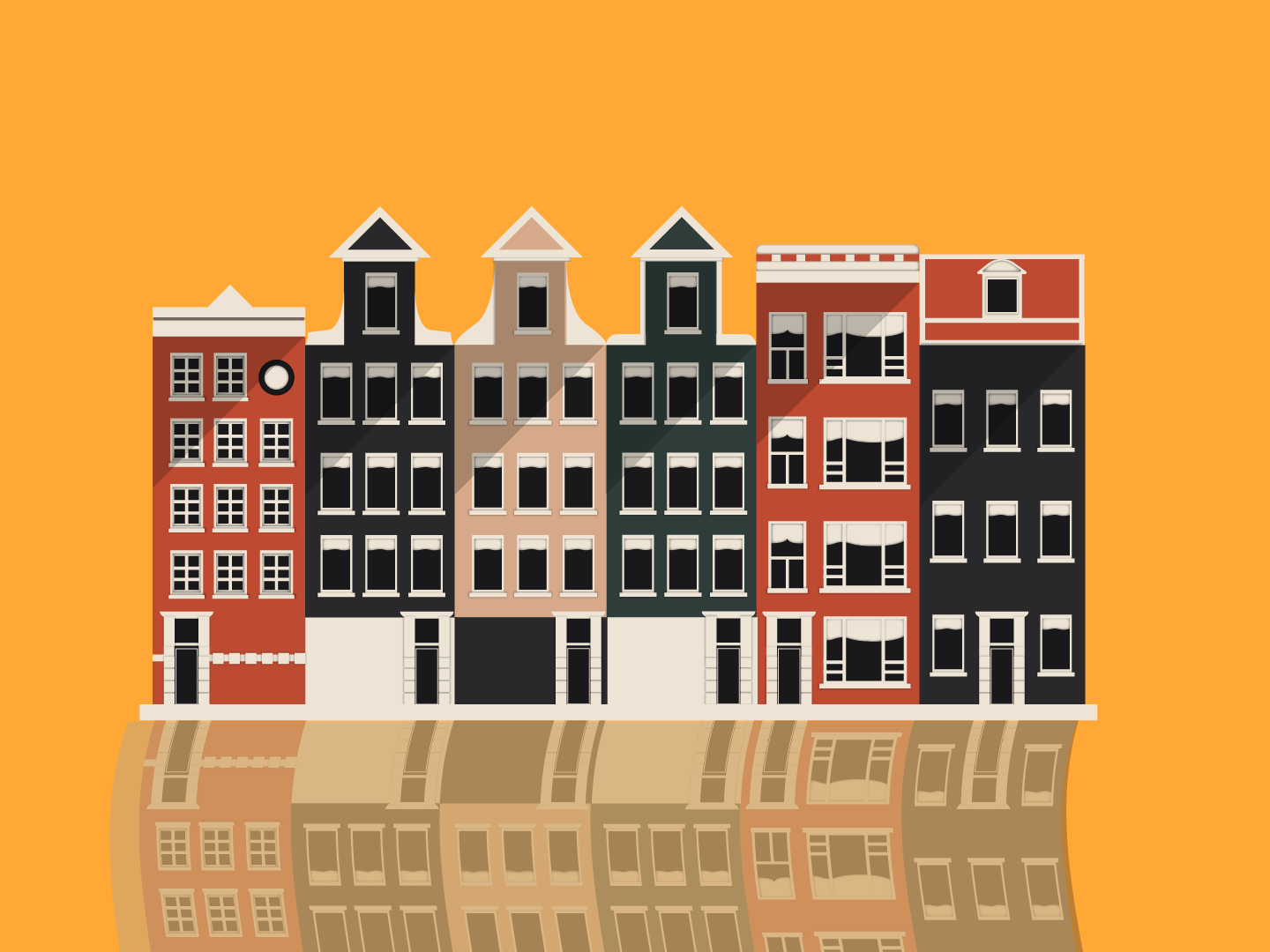 Minimalistic Buildings 2d colorful illustration abstract colors design vector simple structures cute structurevectors minimalistic buildings