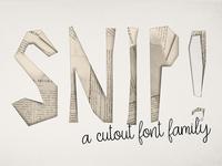 SNIP! Cutout font family