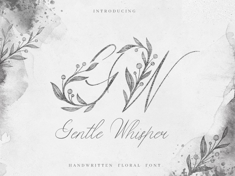 Gentle Whisper Font by Anna Markovets on Dribbble